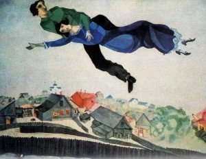 Marc Chagall - Over the town