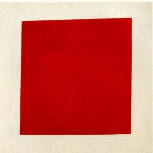 Malevich - Quadrato rosso su fondo bianco