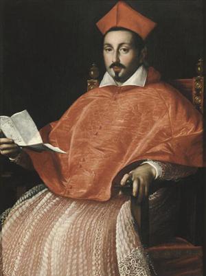 Cardinal Scipione Borghese - ritratto di Ottavio Leoni