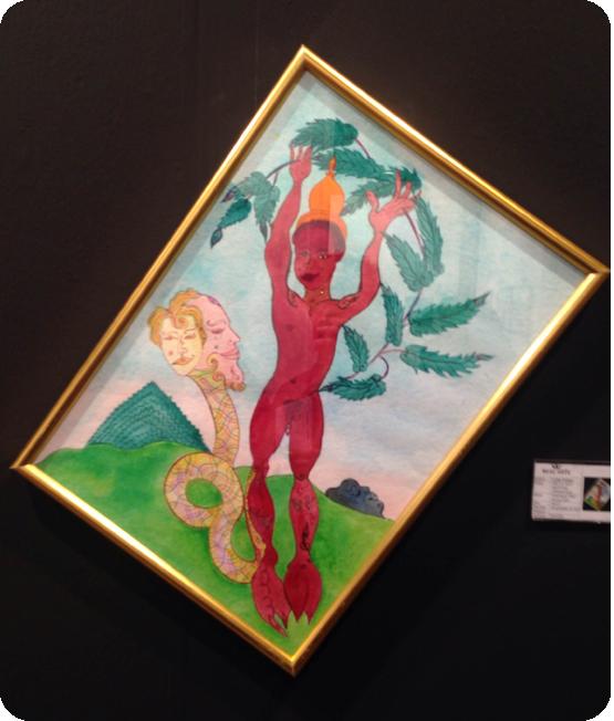 Luigi Ontani - Acquerello esposto ad Arte Padova