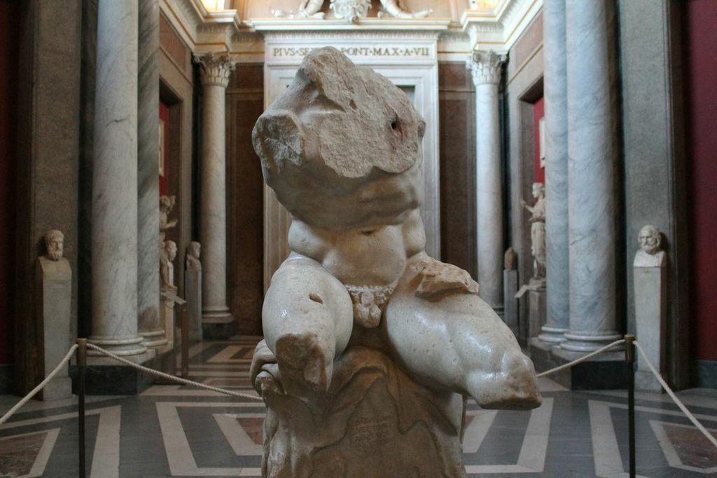 Il Torso del Belvedere conservato ai Musei Vaticani