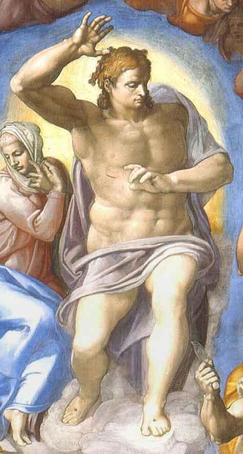 La figura del Cristo del Giudizio Universale di Michelangelo