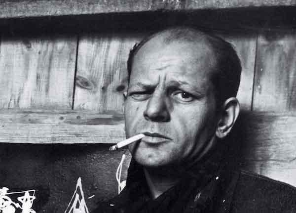 Foto di Jackson Pollock con sigaretta
