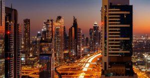 I grattacieli del distretto finanziario di Dubai
