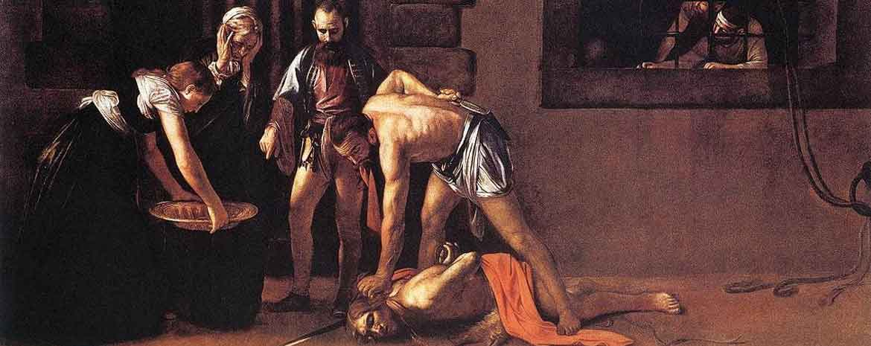 Decollazione di San Giovanni Battista di Caravaggio del 1608.