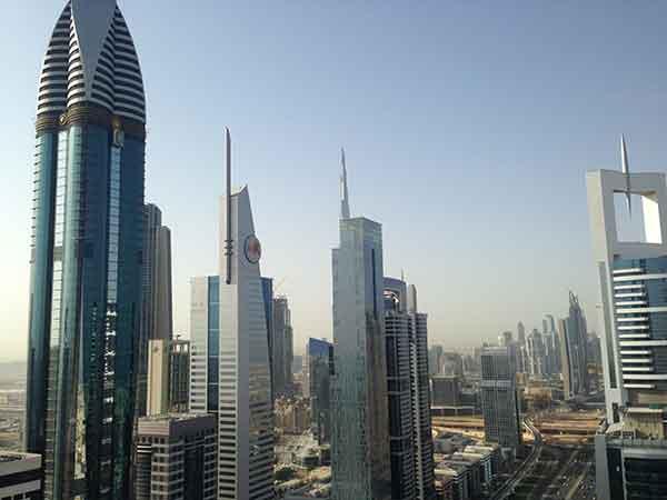 Una veduta dello skyline di Dubai