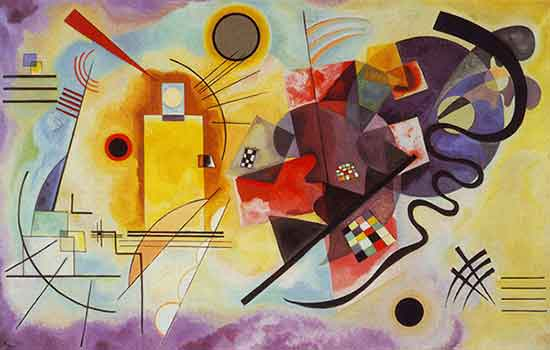 Opera di Kandinsky - Yellow Red Blue
