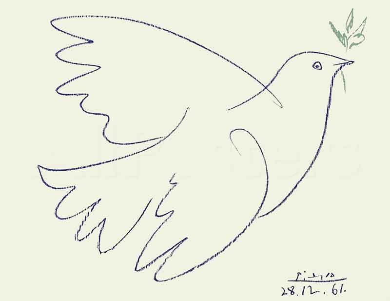 La Colomba disegnata da Picasso come simbolo del movimento per la pace