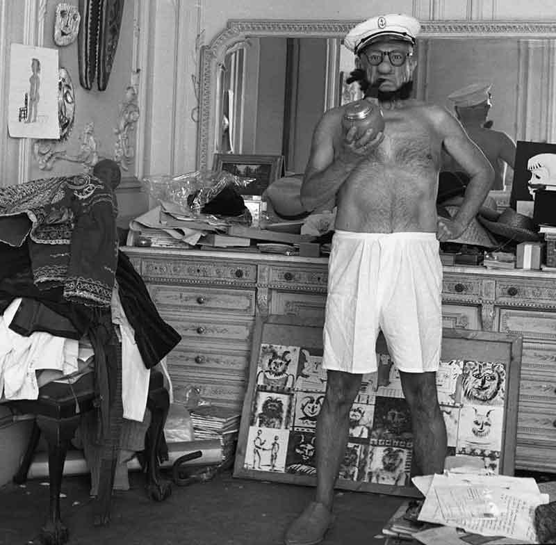 Picasso vestito da Popeye