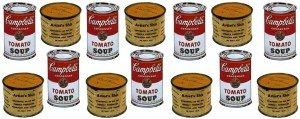 Lattine di zuppa Campbell's di Andy Warhol e Scatolette di Merda d'artista di Piero Manzoni