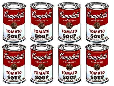 Andy Warhol - Barattoli di zuppa Campbell's