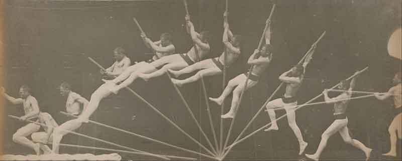 Etienne Jules Marey, Movements in Pole Vaulting - Saltatore con l'asta immortalato con il cronofotografo