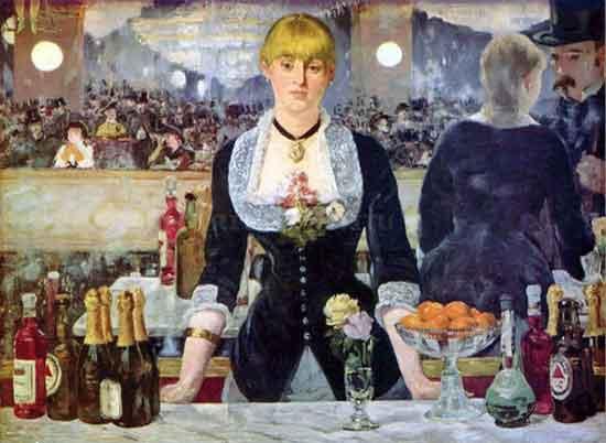 Il bar alle folies Bergere di Edouard Manet