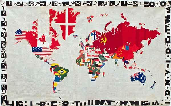 Una mappa del mondo di Alighiero Boetti
