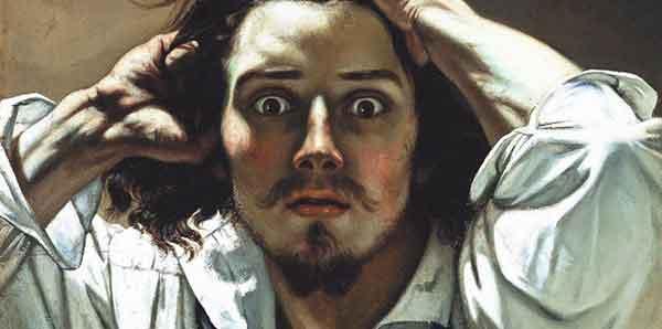 Gustave Coubert - Uomo disperato (autoritratto)