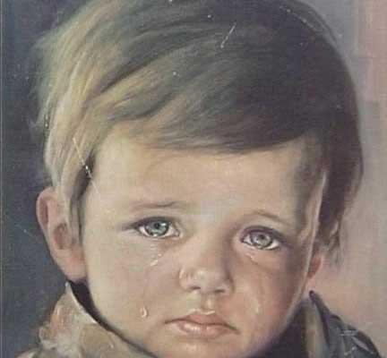 Arte ed emozione: bimbo che piange
