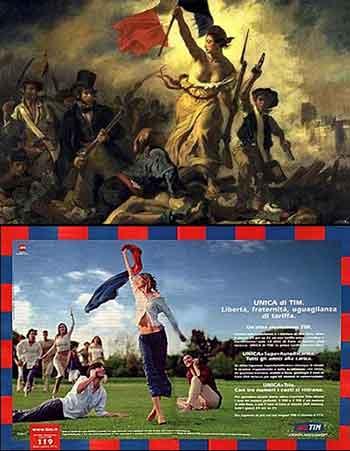 Quadro di Delacroix utilizzato per la pubblicità di Tim