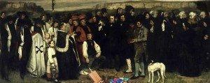 La pittura è morta: Gustave Courbet, Funerale a Ornans