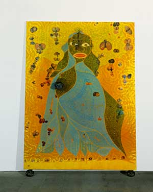 """The Holy Virgin Mary"" di Chris Ofili"