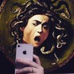 Caravaggio selfie medusa