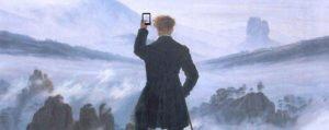 """""""Viandante sul mare di nebbia"""" di Caspar David Friedrich, rivisitazione moderna con fotografia"""