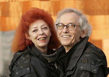 Il duo artistico Christo e Jeanne-Claude