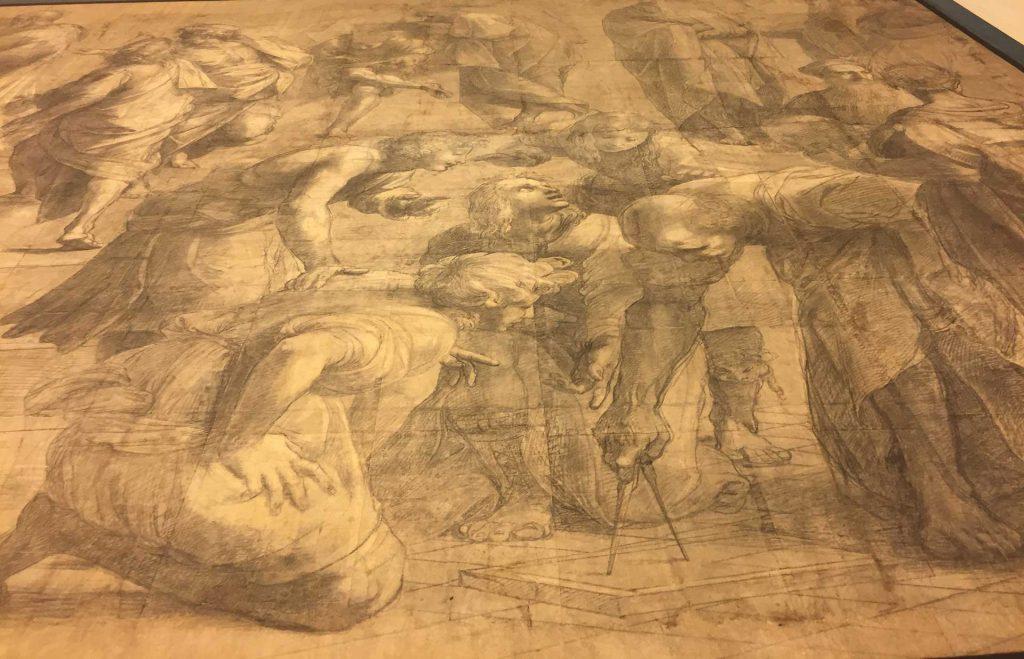 Cartone preparatorio della Scuola di Atene di Raffaello Sanzio