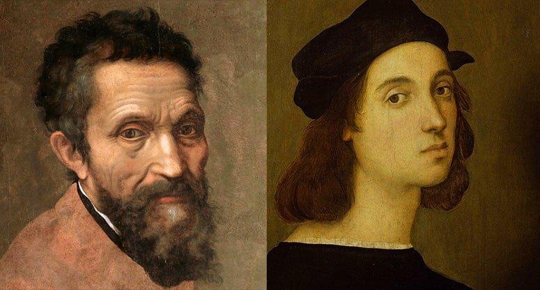 Michelangelo e Raffaello ritratti