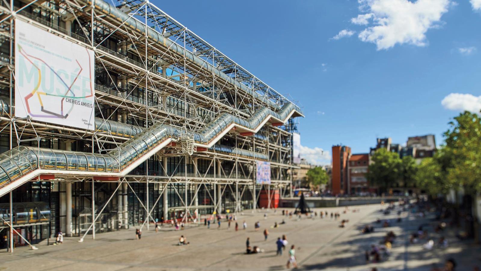 Veudta esterna del Centre Pompidou