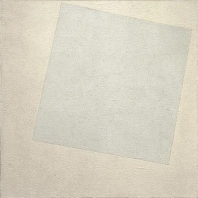 Kesemir Malevic: Composizione-suprematista bianco su bianco (1918) Museum of Modern Art (New York) - Olio su tela