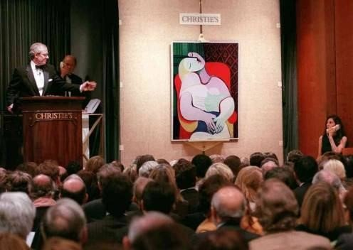 """L'asta di Christie's in cui è stata aggiudicata l'opera """"la Reve"""" di Picasso"""
