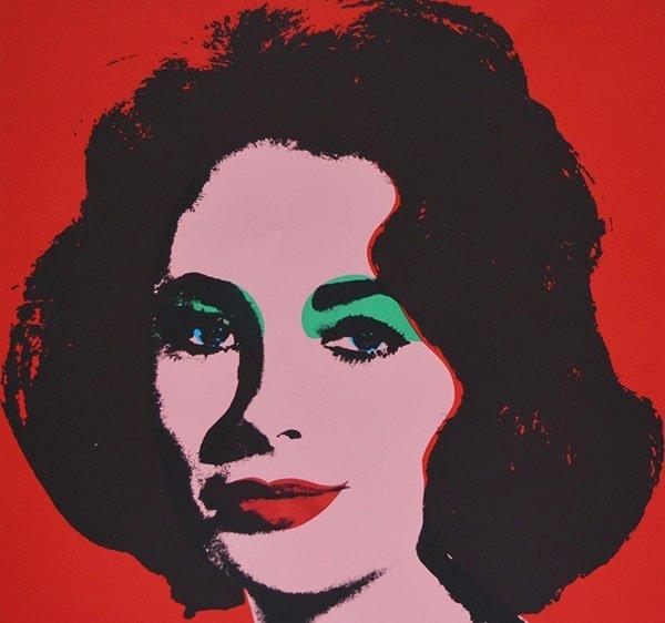 Liz Taylor: Serigrafia Andy Warhol